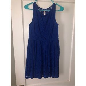 Blue lace dress!